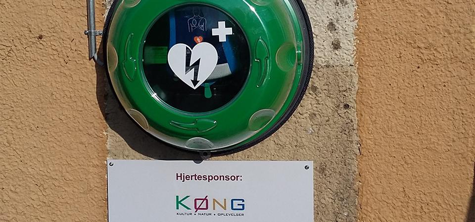 Hjertestarter ved Spar i Køng, 4750 Lundby