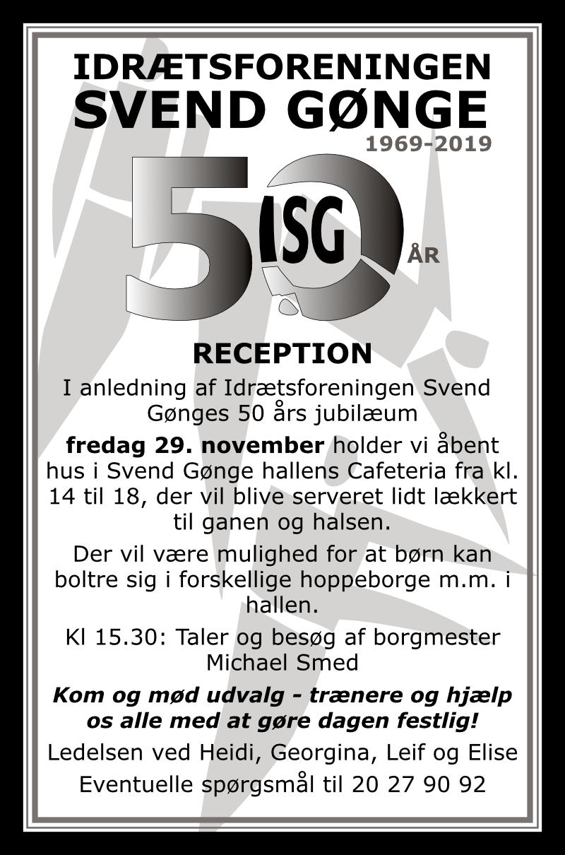 50 års jubilæum invitation